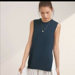 Wilfred Palmier Sleeveless Top Tunic Side Slit T39